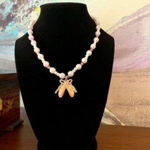 Other - Girls' ballerina beaded necklace w/toggle clasp.